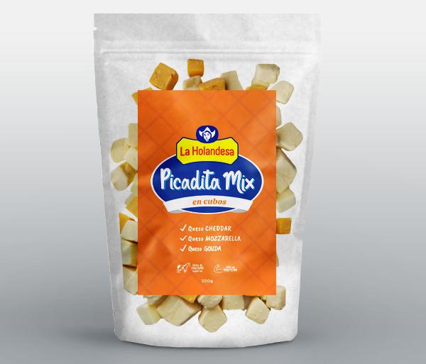 Picadita Mix en cubos